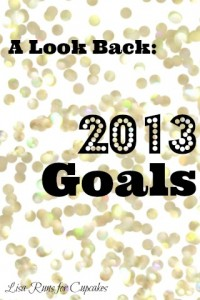 Looking Back:  2013 Goals