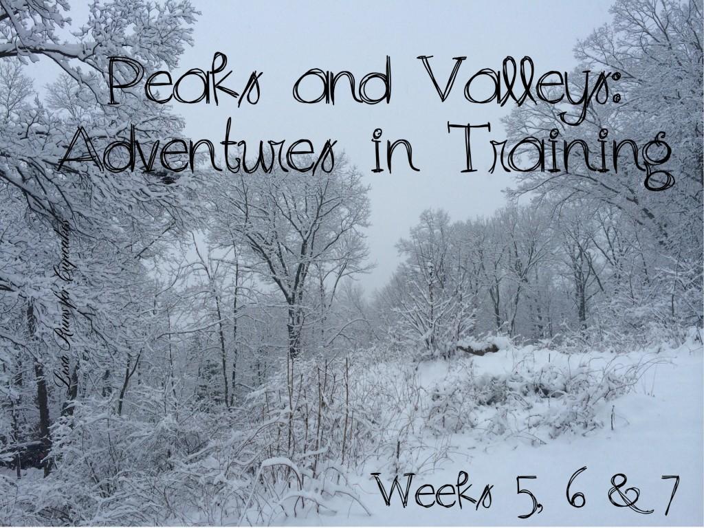 Peaks and Valleys:  Adventures in Training Weeks 5, 6 & 7