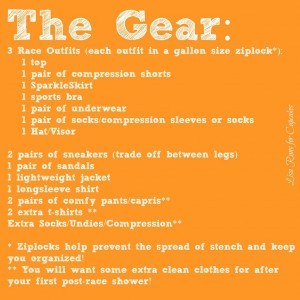 How to Pack for Ragnar Relay!