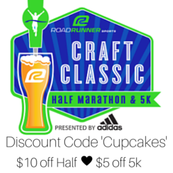 $10.00 of the Half $5.00 off the 5k'Cupcakes'