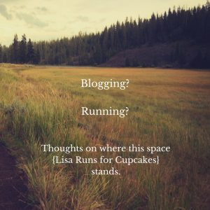 Blogging? Running?  Where this space stands.