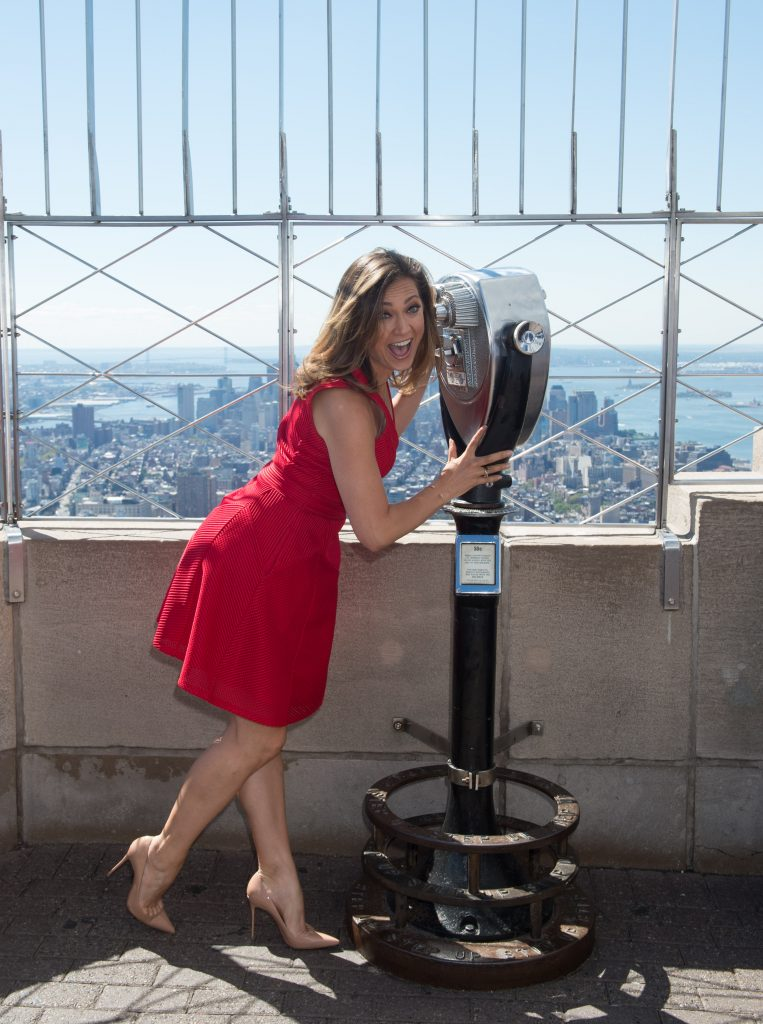 "The Empire State Building hosts Lauren Bush Lauren, Ginger Zee and ""Women's Health Magazine"" to celebrate ""Run 10 Feed 10"" and end the fight against domestic hunger, Thursday, September 15, 2016."