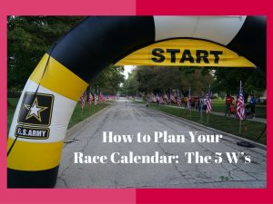 How to Plan Your Race Calendar:  The 5 W's and a Peek into 2017