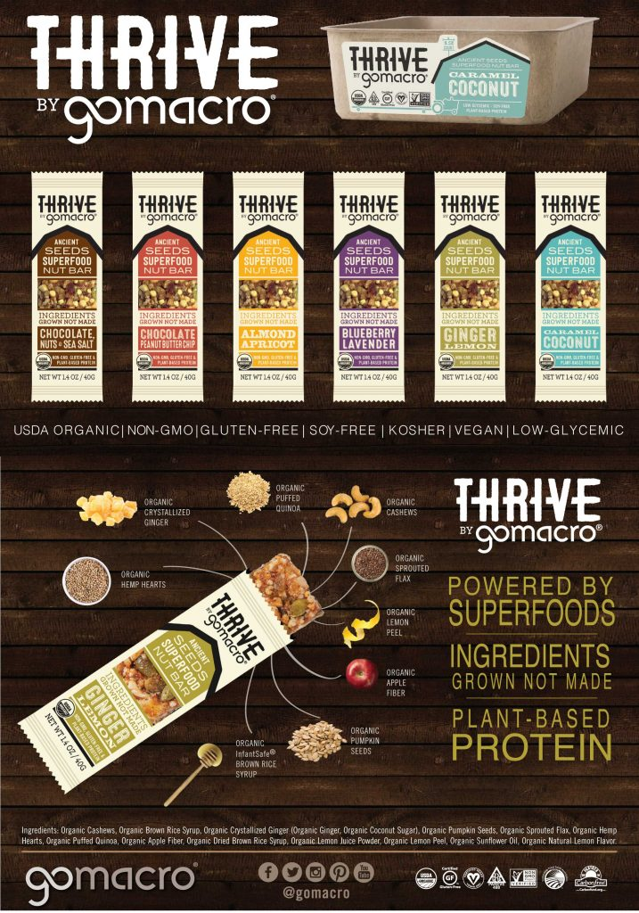 Thrive Bars by GoMacro | Review & Giveaway